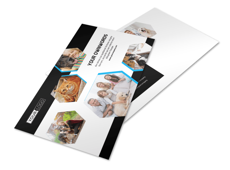 Animal Shelter & Pet Adoption Agency Postcard Template Preview 1