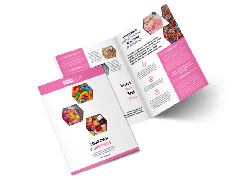 Candy Shop Bi-Fold Brochure Template 2