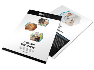 Animal Shelter & Pet Adoption Agency Flyer Template preview