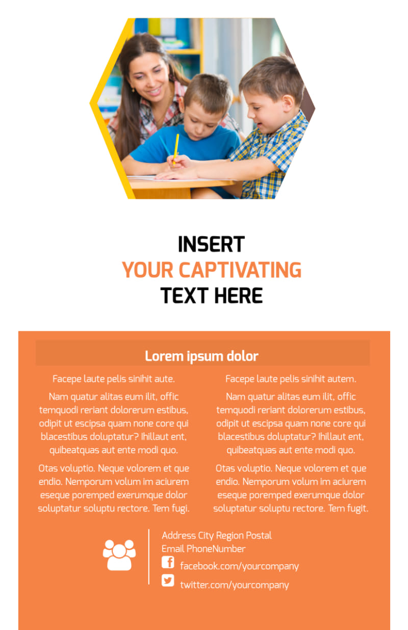 Creative Child Development Flyer Template Preview 3