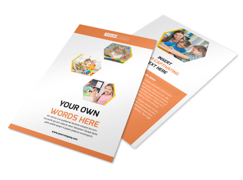 Child Development School Flyer Template 3