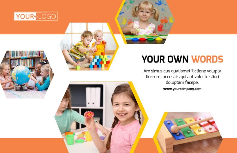 Creative Child Development Postcard Template Preview 2
