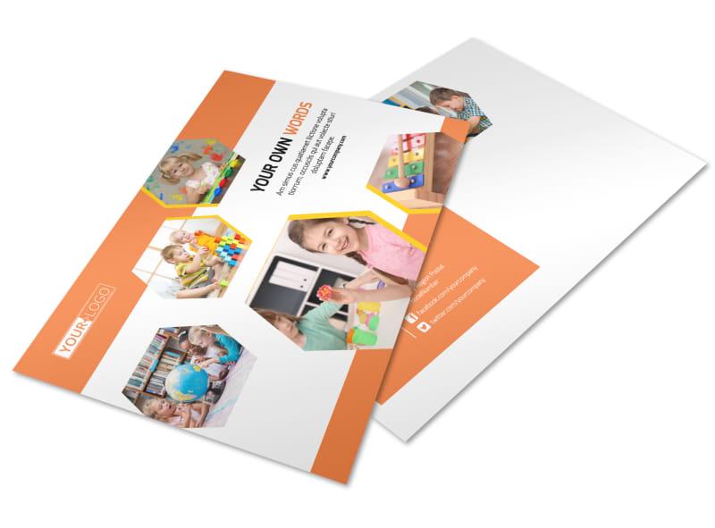 Child Development School Postcard Template