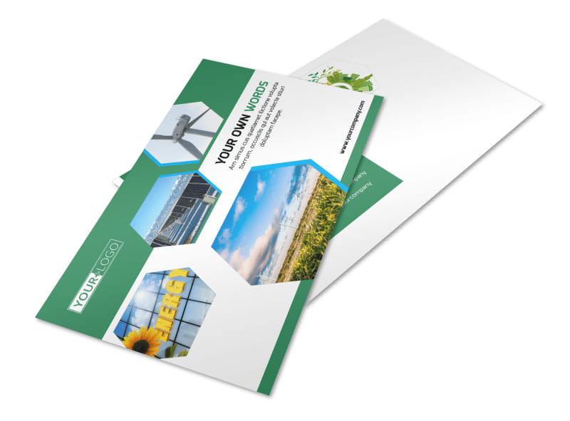 Green Energy Technology Postcard Template 2