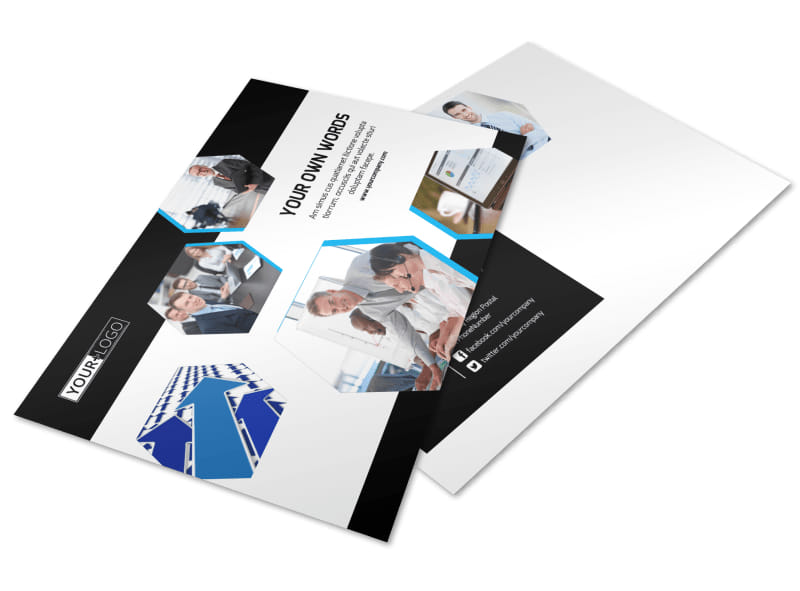 Elite Business Consulting Postcard Template Preview 4