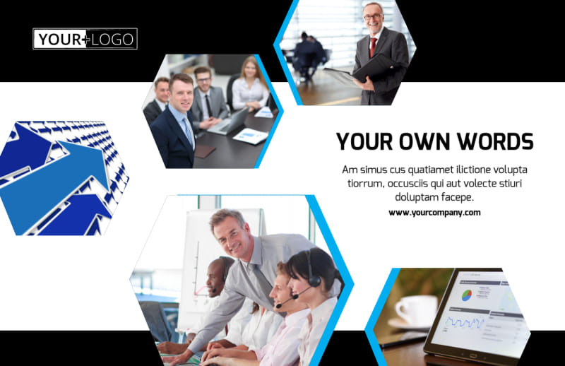 Elite Business Consulting Postcard Template Preview 2