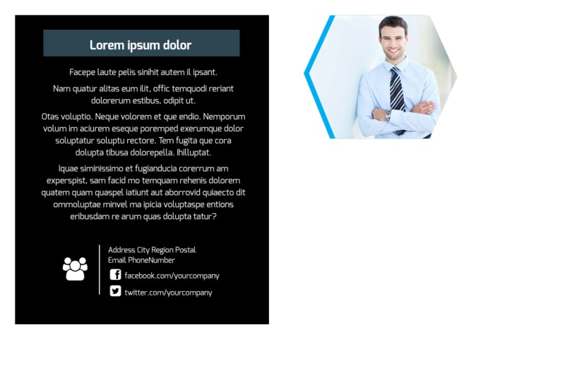 Elite Business Consulting Postcard Template Preview 3