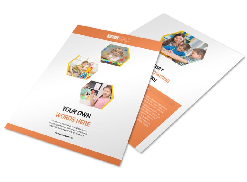 Child Development School Flyer Template