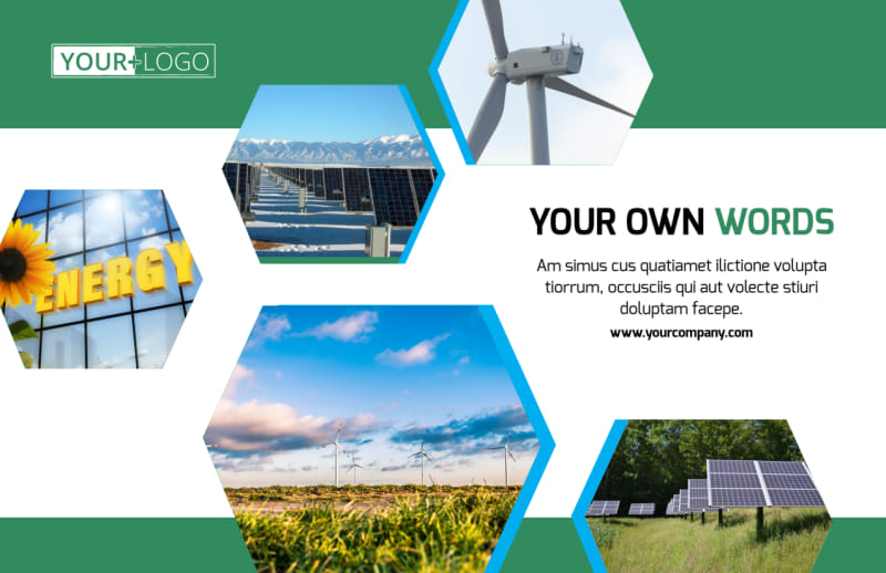 Green Energy Technology Postcard Template Preview 2