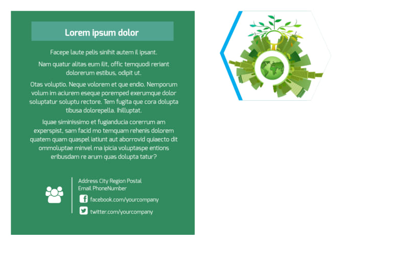 Green Energy Technology Postcard Template Preview 3