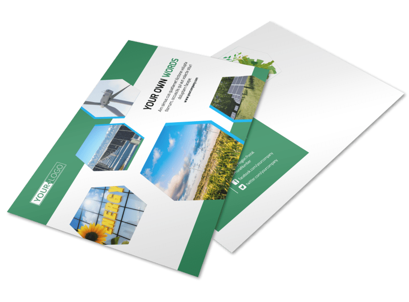 Green Energy Technology Postcard Template Preview 1