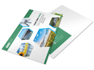 Green Energy Technology Postcard Template preview