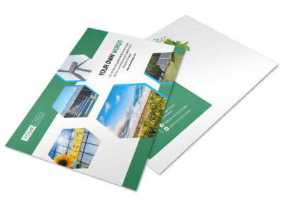 Green Energy Technology Postcard Template