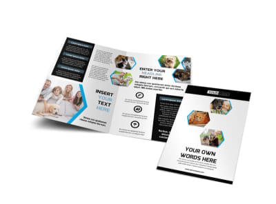 Animal Shelter & Pet Adoption Agency Bi-Fold Brochure Template preview