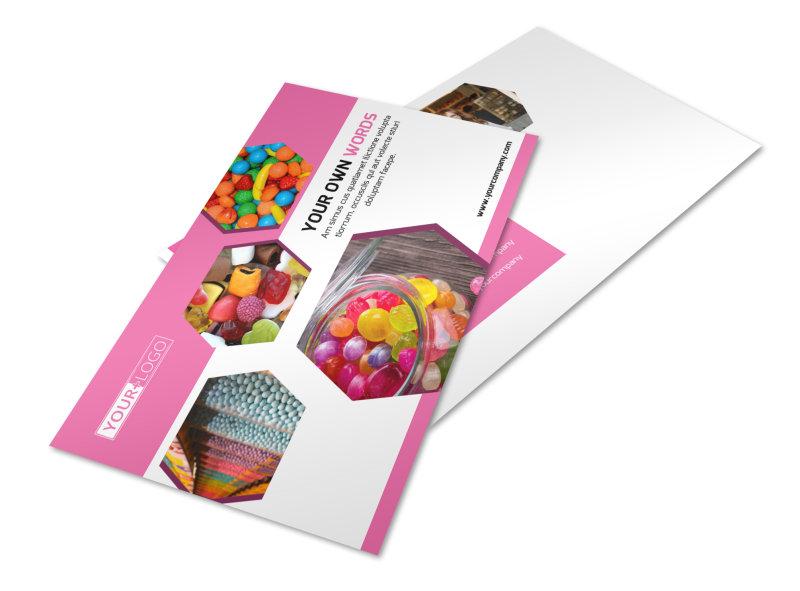 Candy Shop Postcard Template 2
