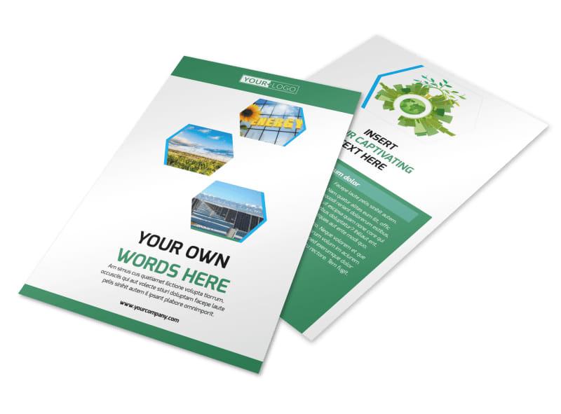 Green Energy Technology Flyer Template 3
