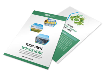 Green Energy Technology Flyer Template MyCreativeShop - Technology brochure template