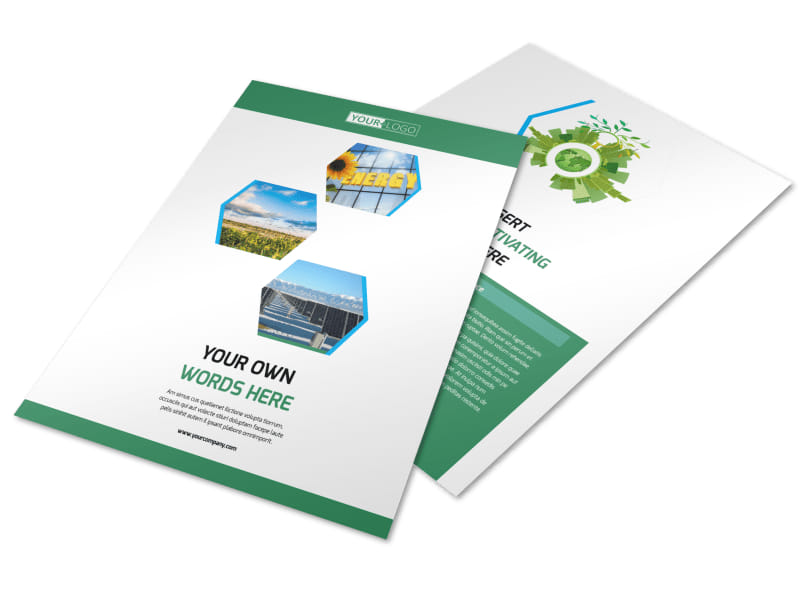 Green Energy Technology Brochure Template | Mycreativeshop
