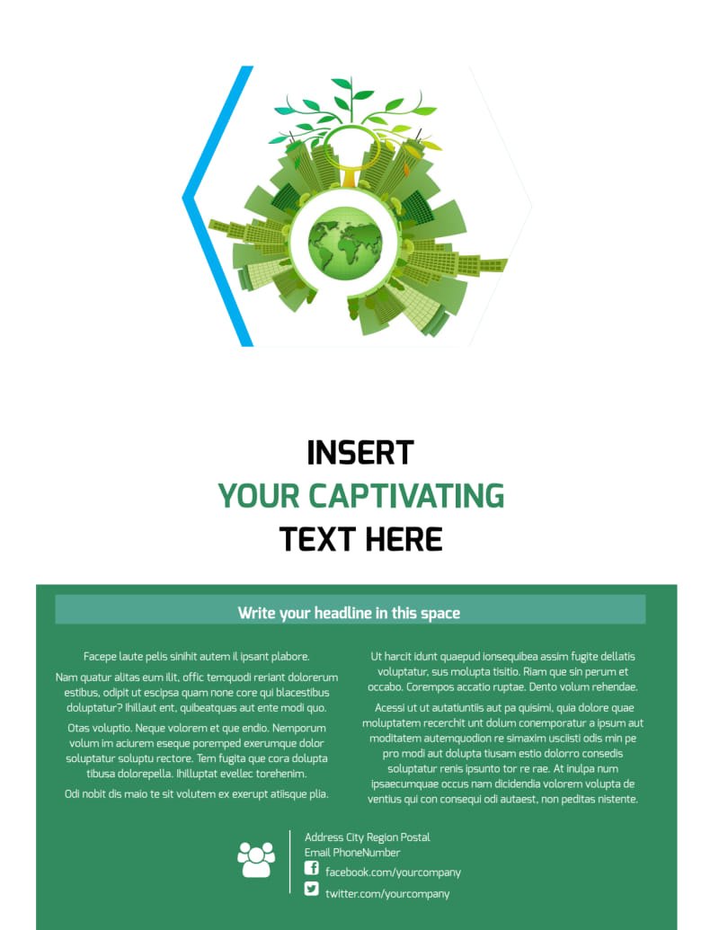 Green Energy Technology Flyer Template Preview 3
