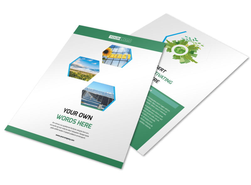 Green Energy Technology Flyer Template Preview 1