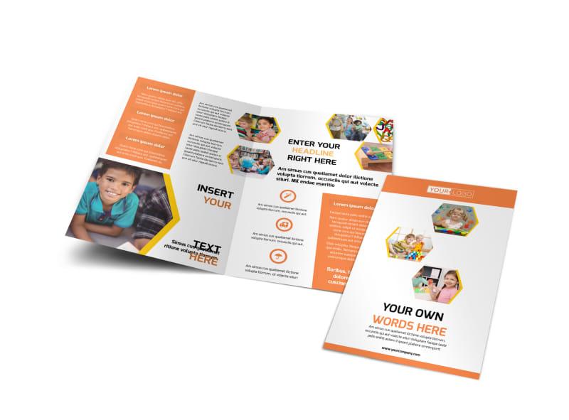 Child Development School Bi-Fold Brochure Template