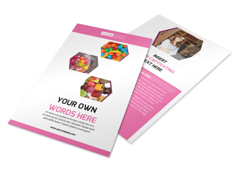 Candy Shop Flyer Template 3