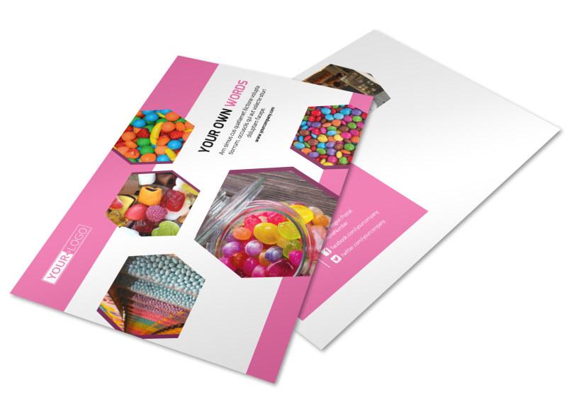 Candy Shop Postcard Template