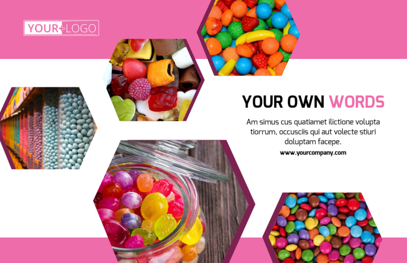 Candy Shop Postcard Template Preview 2