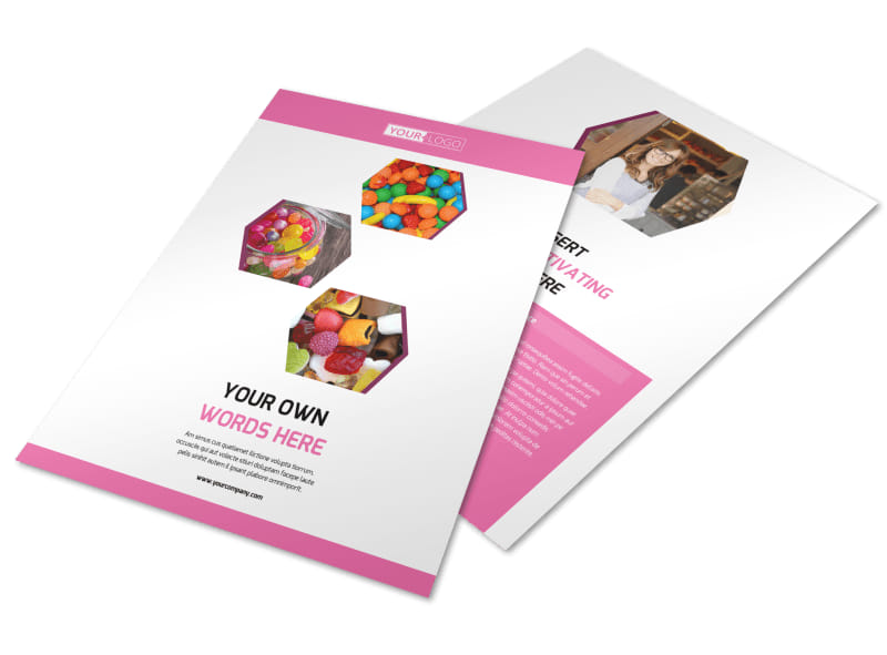 Candy Shop Flyer Template Preview 4
