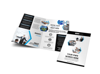 Elite Business Consulting Bi-Fold Brochure Template