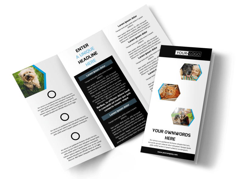 Animal Shelter & Pet Adoption Agency Brochure Template Preview 1