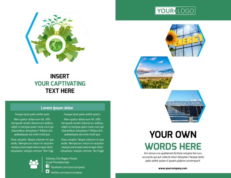 Green Energy Technology Brochure Template Preview 2