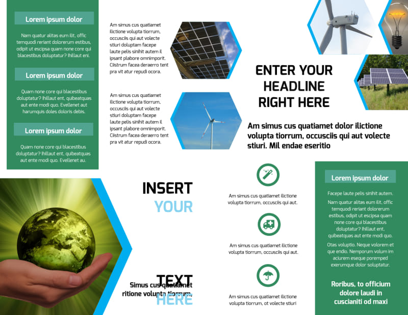 Green Energy Technology Brochure Template Preview 3