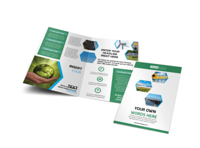 Green Energy Technology Bi Fold Brochure Template