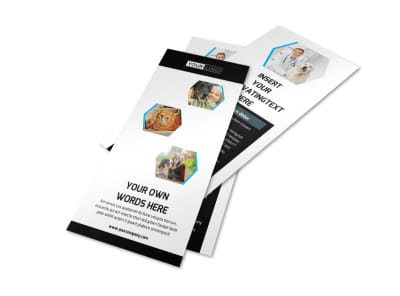 Animal Shelter & Pet Adoption Rack Card Template 2 preview