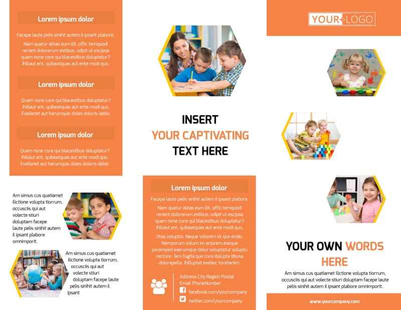 Creative Child Development Brochure Template Preview 2