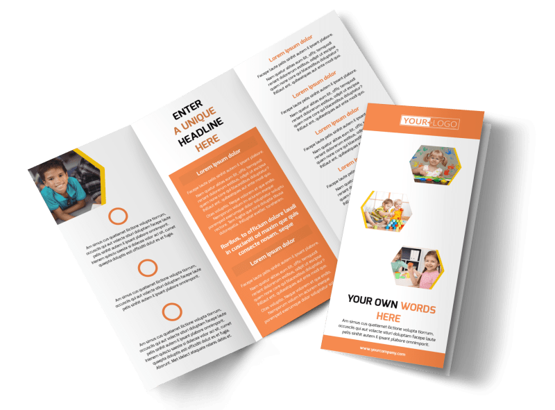 Creative Child Development Brochure Template Preview 1