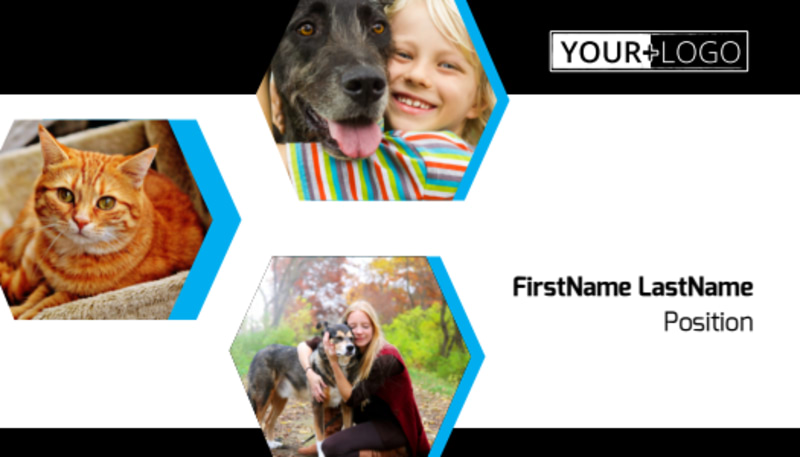 Animal Shelter & Pet Adoption Agency Business Card Template Preview 2