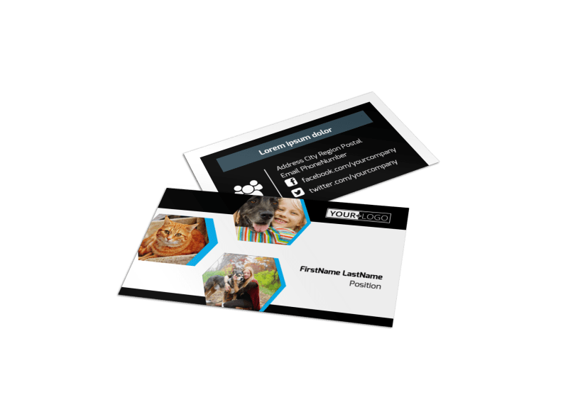 Animal Shelter & Pet Adoption Agency Business Card Template Preview 1