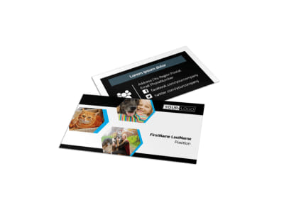 Animal Shelter & Pet Adoption Agency Business Card Template preview