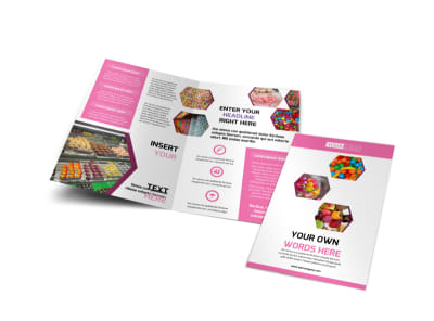 Candy Shop Bi-Fold Brochure Template