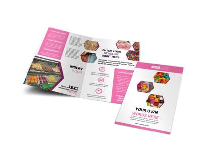 Candy Shop Bi-Fold Brochure Template
