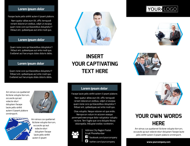 Elite Business Consulting Brochure Template Preview 2
