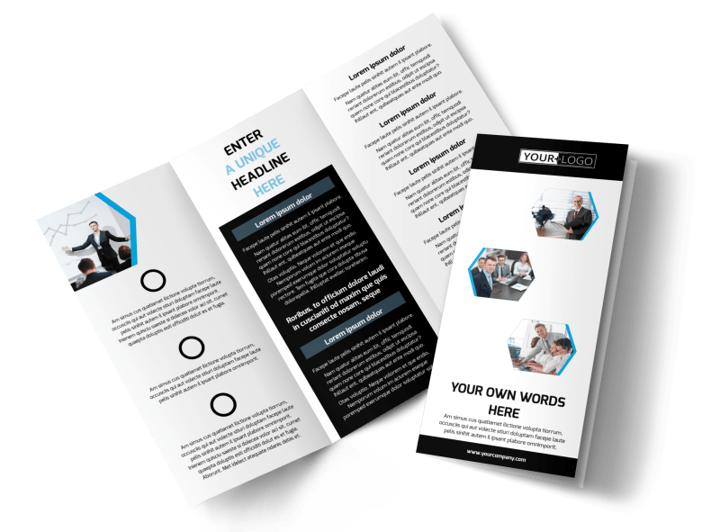 Elite Business Consulting Brochure Template Preview 1