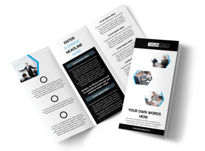 Elite Business Consulting Tri-Fold Brochure Template