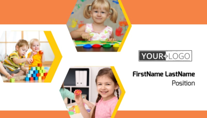 Creative Child Development Business Card Template Preview 2