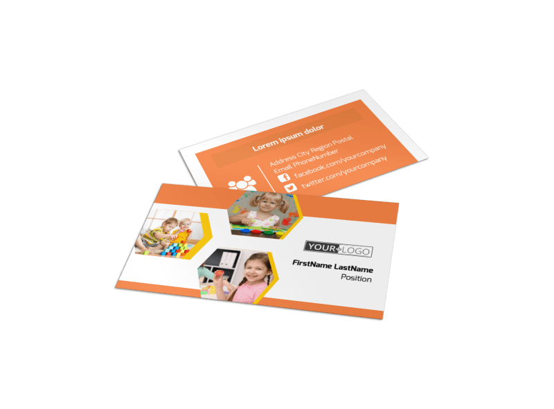 Creative Child Development Business Card Template Preview 1