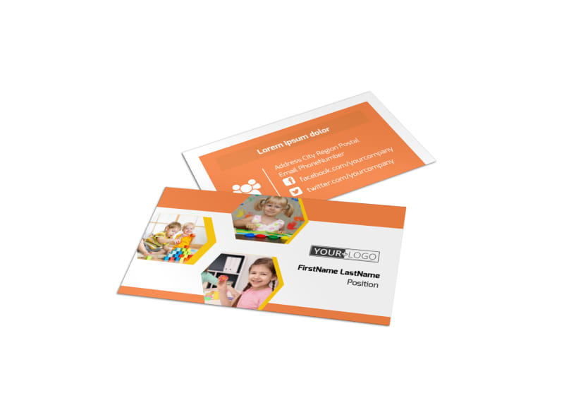 Creative Child Development Business Card Template Preview 4