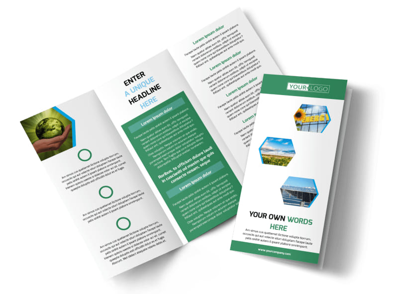 Green Energy Technology Brochure Template  Mycreativeshop
