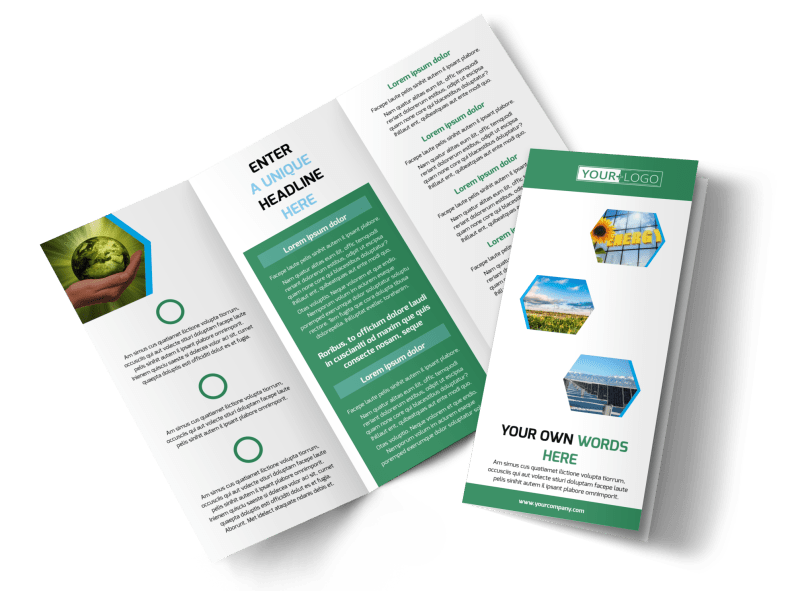 Green Energy Technology Brochure Template Preview 1